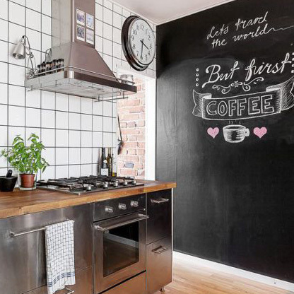 Fabulous peindre un mur avec de la peinture tableau with mur ardoise cuisine - Mur ardoise cuisine ...