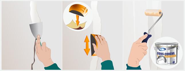 Appliquer un enduit taloch au mur tadelakt - Peinture a la taloche ...