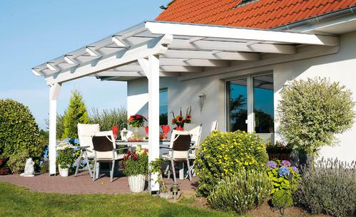 Auvent de terrasse mat riaux et prix de l 39 auvent de terrasse for Auvent pour maison