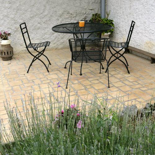 Comparatif terrasse terrasse en bois pierre b ton et for Terrasse en beton decoratif