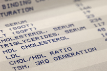 Gros plan rapport cholesterol