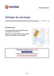 Cuisine t l chargez les fiches pratiques for Nettoyage carrelage apres pose