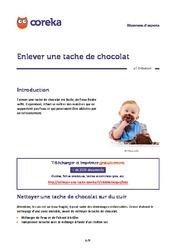 Enlever une tache de chocolat nettoyer une tache - Comment enlever une tache de chocolat ...