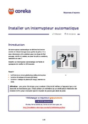 Installer un interrupteur automatique