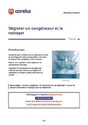 R frig rateur t l chargez les fiches pratiques - Comment degivrer un refrigerateur ...