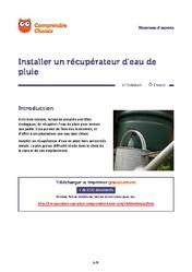 Installer un r cup rateur d eau de pluie r cup ration eau de pluie - Installer un recuperateur d eau ...