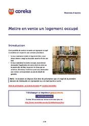 Mettre en vente un logement occupé