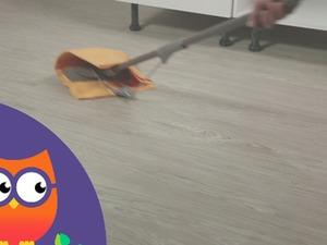 Nettoyage d'un sol PVC