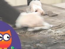 Nettoyage d'une plaque en fonte