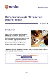 Demander une aide PCH pour un appareil auditif