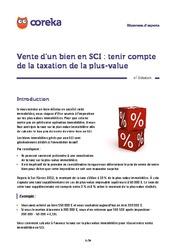 Anticiper la taxe sur la plus-value pour la vente en SCI