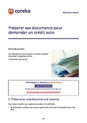 Assurance credit auto infos sur l assurance d un cr dit auto - Document pour un credit ...