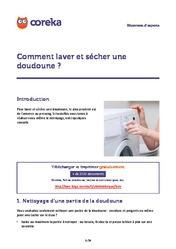 comment laver une doudoune