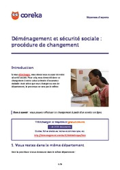 D m nagement le guide du d m nagement - Demenagement et securite sociale ...