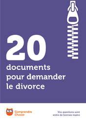 20 documents pour demander le divorce
