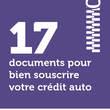 17 documents pour bien souscrire votre crédit auto