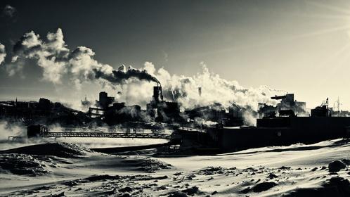 Une usine de recyclage