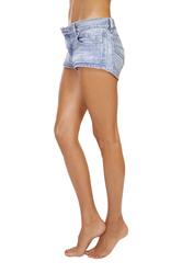 Jambes femme short jean