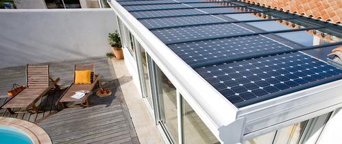veranda photovoltaique tout sur la v randa panneau solaire. Black Bedroom Furniture Sets. Home Design Ideas