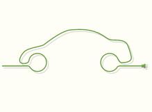 Prise verte dessin voiture fond blanc