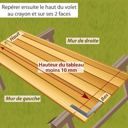 Fabriquer un volet battant en bois volet for Fabriquer un garage en bois