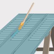 Peindre des volets m talliques volet for Peindre des volets lasures