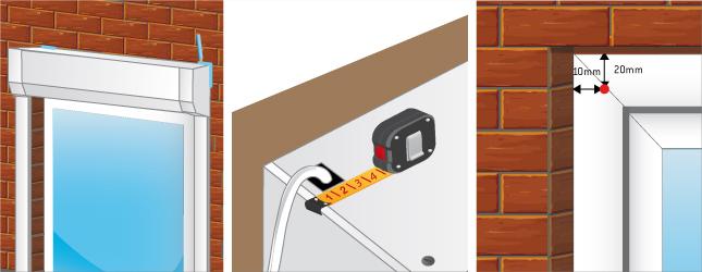 Reportez l'emplacement du trou de passage du câble électrique