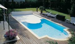 Volet de piscine hors sol principe et prix ooreka for Volet piscine desjoyaux