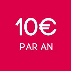 10€ par an