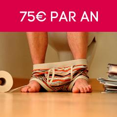 75€ par an5cm