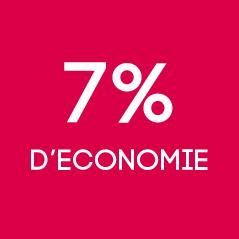 7% d'économie