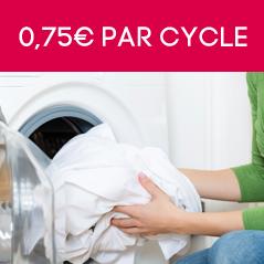 0,75€ par cycle